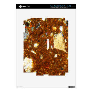 Thin section of a brick under the microscope decals for iPad 3