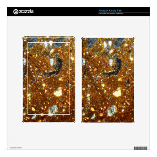 Thin section of a brick under the microscope decals for kindle fire