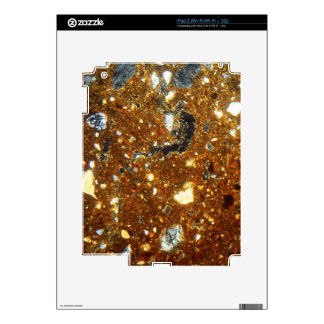 Thin section of a brick under the microscope iPad 2 skin