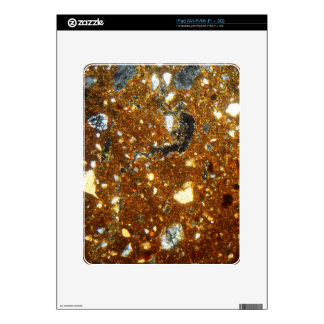 Thin section of a brick under the microscope iPad decal