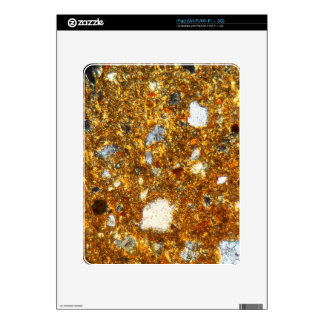 Thin section of a brick under the microscope iPad decals