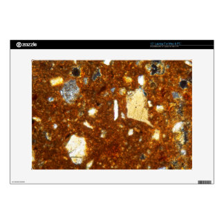 """Thin section of a brick under the microscope skin for 15"""" laptop"""