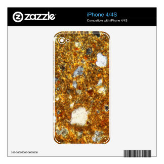 Thin section of a brick under the microscope skin for the iPhone 4S