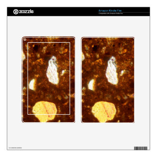 Thin section of a brick under the microscope skins for kindle fire
