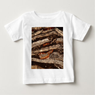 Thin section of fossil calcareous shell fragments baby T-Shirt