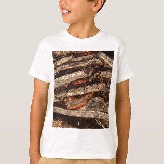 Thin section of fossil calcareous shell fragments T-Shirt