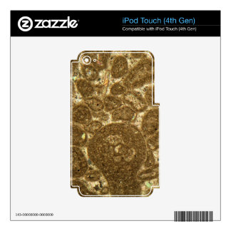 Thin section of Paleozoic limestone under the micr iPod Touch 4G Skins