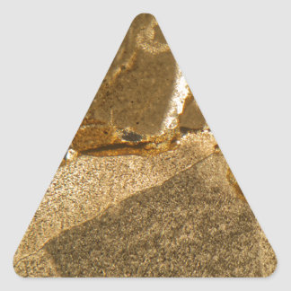 Thin section of Triassic carbonate under the micro Triangle Sticker