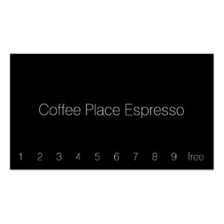 Thin Simple Dark Loyalty Coffee Punch-Card Double-Sided Standard Business Cards (Pack Of 100)