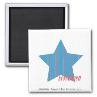 Thin Stripes Aqua 2 2 Inch Square Magnet