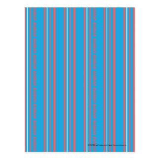 Thin Stripes Aqua Postcard