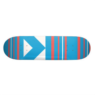 Thin Stripes Aqua Skate Board Deck