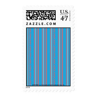 Thin Stripes Aqua Stamp
