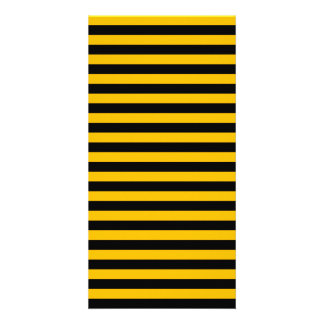 Thin Stripes - Black and Amber Card