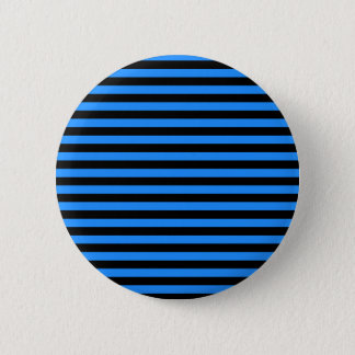 Thin Stripes - Black and Blue Pinback Button