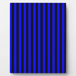 Thin Stripes - Black and Blue Plaque