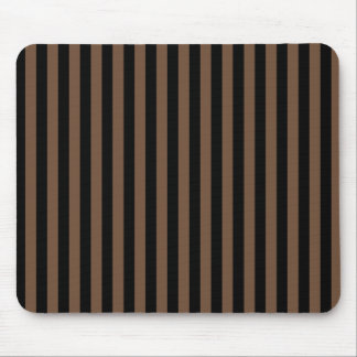Thin Stripes - Black and Coffee Mouse Pad