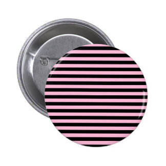 Thin Stripes - Black and Cotton Candy Button