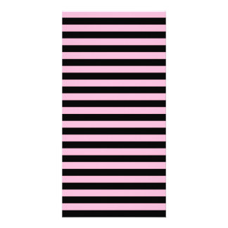 Thin Stripes - Black and Cotton Candy Card