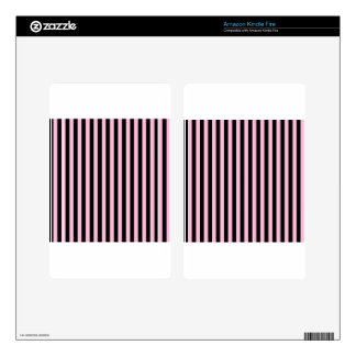 Thin Stripes - Black and Cotton Candy Decal For Kindle Fire