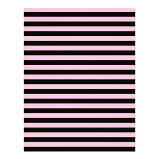 Thin Stripes - Black and Cotton Candy Letterhead