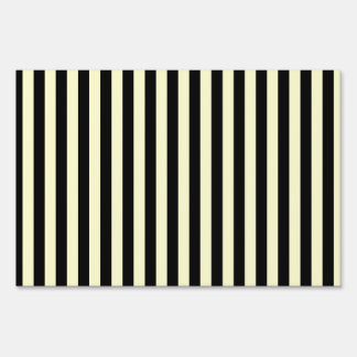 Thin Stripes - Black and Cream Lawn Sign