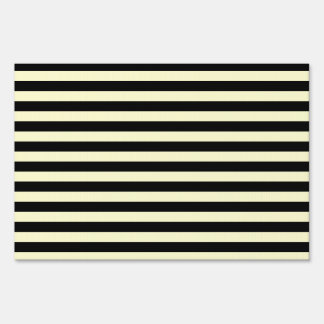 Thin Stripes - Black and Cream Sign