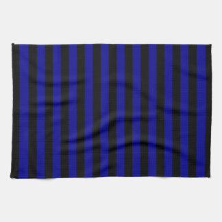 Thin Stripes - Black and Dark Blue Kitchen Towel