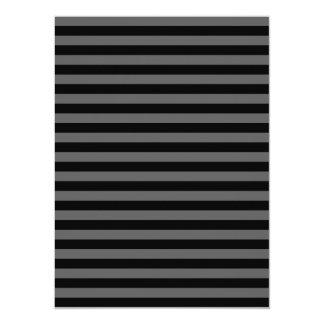 Thin Stripes - Black and Dark Gray Card