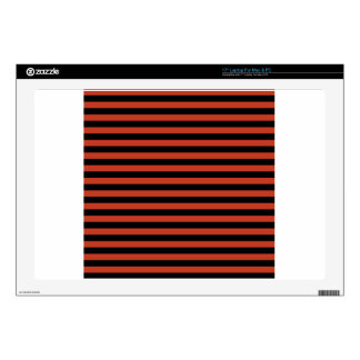 """Thin Stripes - Black and Dark Pastel Red Skin For 17"""" Laptop"""