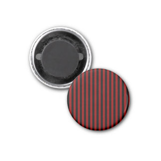 Thin Stripes - Black and Dark Red Magnet