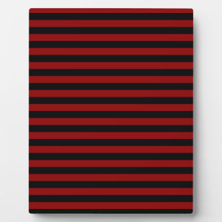 Thin Stripes - Black and Dark Red Plaque