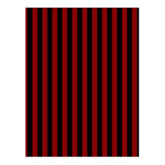 Thin Stripes - Black and Dark Red Postcard
