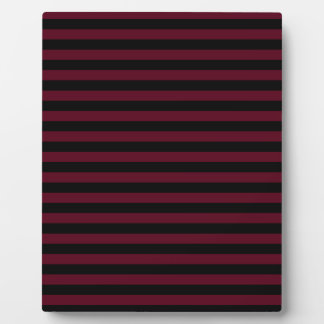 Thin Stripes - Black and Dark Scarlet Plaque