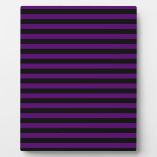 Thin Stripes - Black and Dark Violet Plaque