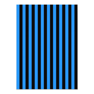 Thin Stripes - Black and Dodger Blue Card