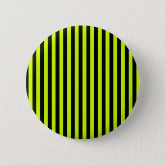 Thin Stripes - Black and Fluorescent Yellow Button