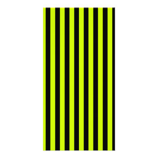 Thin Stripes - Black and Fluorescent Yellow Card