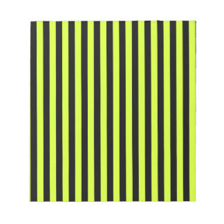 Thin Stripes - Black and Fluorescent Yellow Notepad