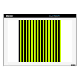 "Thin Stripes - Black and Fluorescent Yellow Skins For 17"" Laptops"