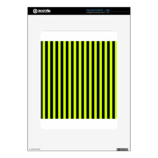 Thin Stripes - Black and Fluorescent Yellow Skins For The iPad