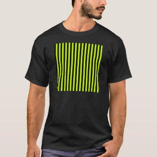 Thin Stripes - Black and Fluorescent Yellow T-Shirt