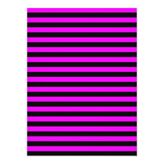 Thin Stripes - Black and Fuchsia Card