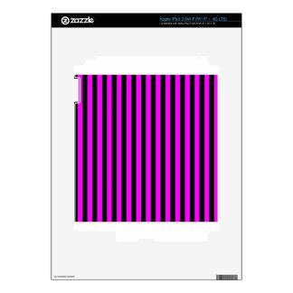Thin Stripes - Black and Fuchsia Decal For iPad 3