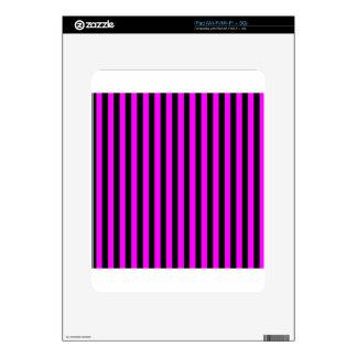 Thin Stripes - Black and Fuchsia Skin For The iPad