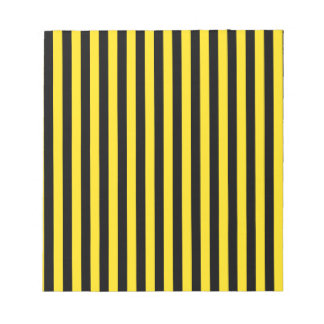 Thin Stripes - Black and Golden Yellow Notepad