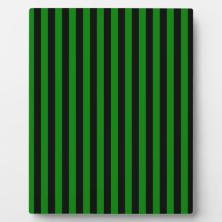 Thin Stripes - Black and Green Plaque