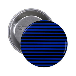 Thin Stripes - Black and Imperial Blue Pinback Button