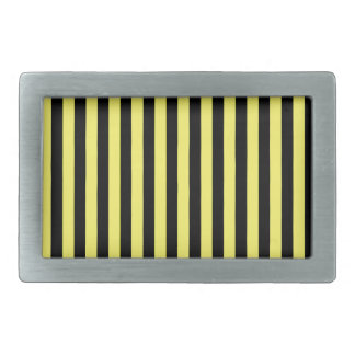 Thin Stripes - Black and Lemon Belt Buckle