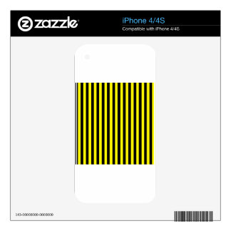 Thin Stripes - Black and Lemon Decals For The iPhone 4S